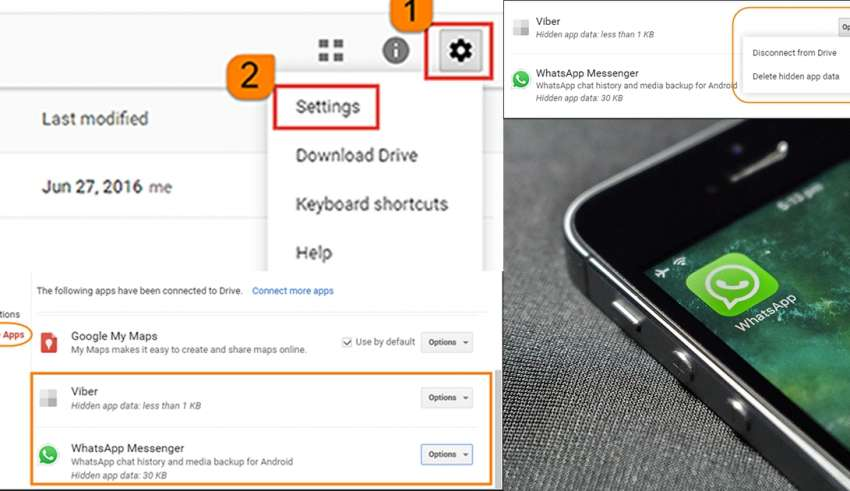 How to delete whatsapp backup on android saved on Google Drive