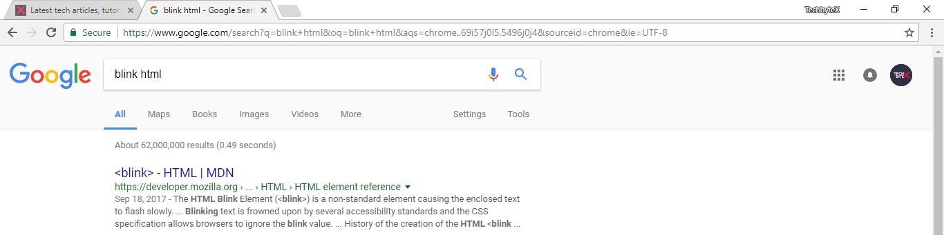 blink html trick