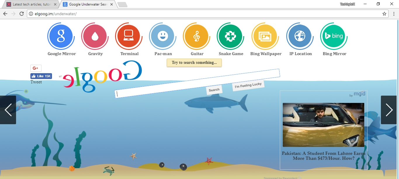 google shuixia underwater search