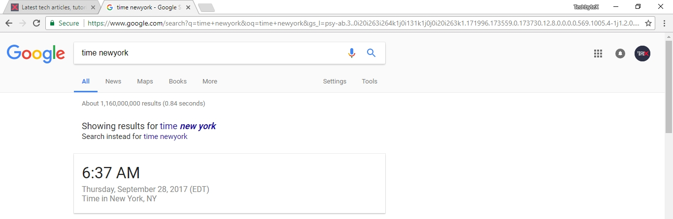 google time feature