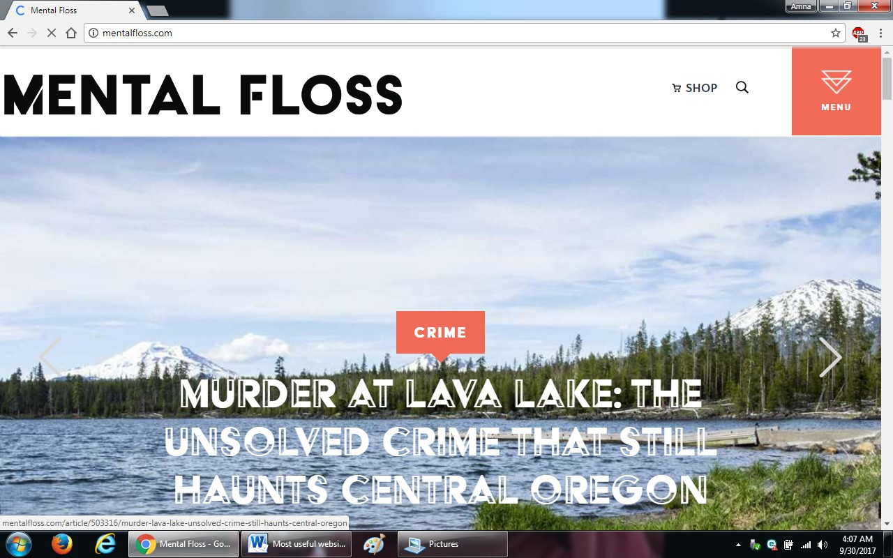 27. mentalfloss - 100+ most useful websites list we are not yet familiar with