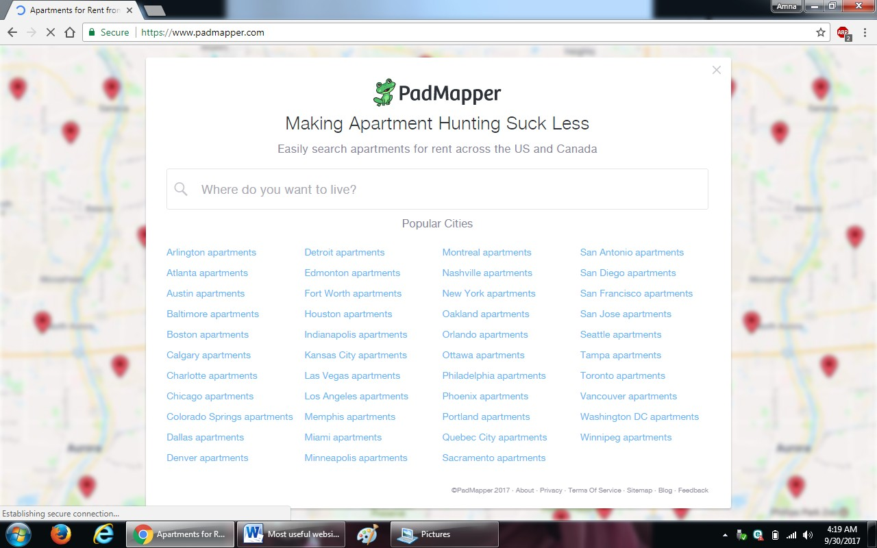 37. padmapper.com  - 100+ most useful websites list we are not yet familiar with