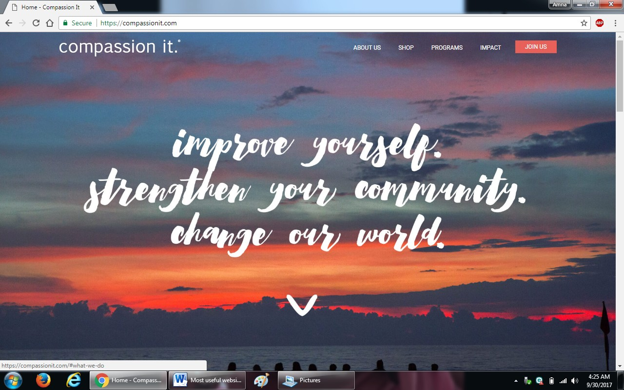 42. compassionpit.com - 100+ most useful websites list we are not yet familiar with