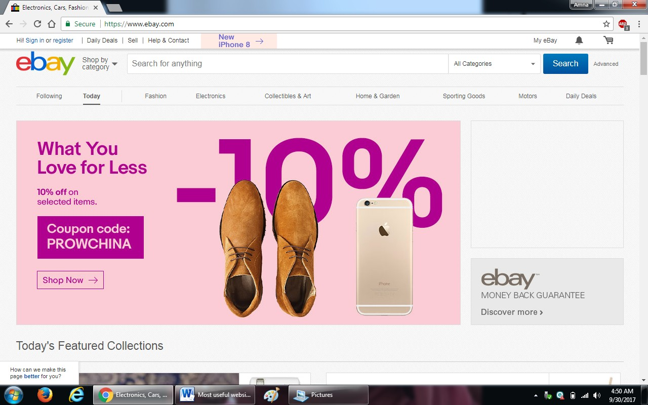 59. ebay.com - 100+ most useful websites list we are not yet familiar with