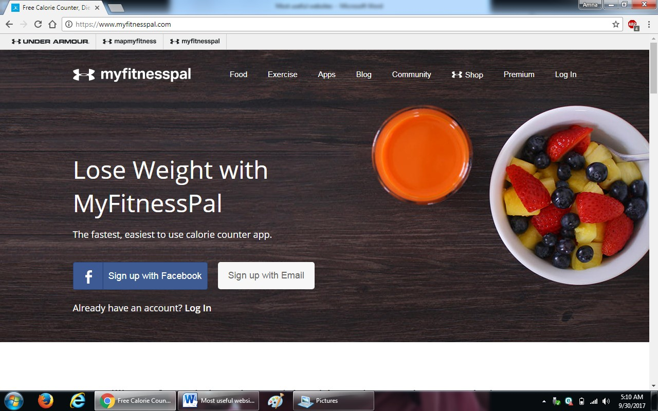 73.myfitnesspal.com - 100+ most useful websites list we are not yet familiar with