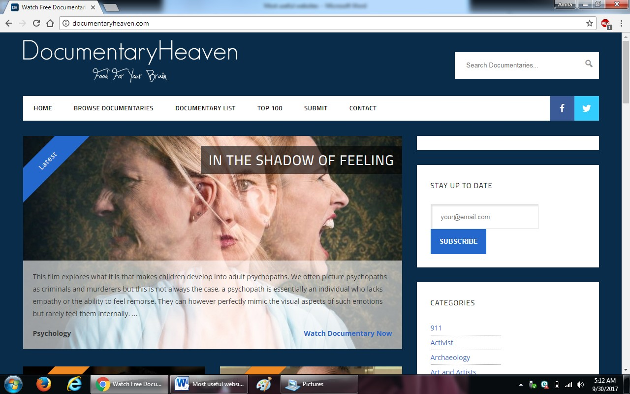 74. documentaryheaven.com - 100+ most useful websites list we are not yet familiar with