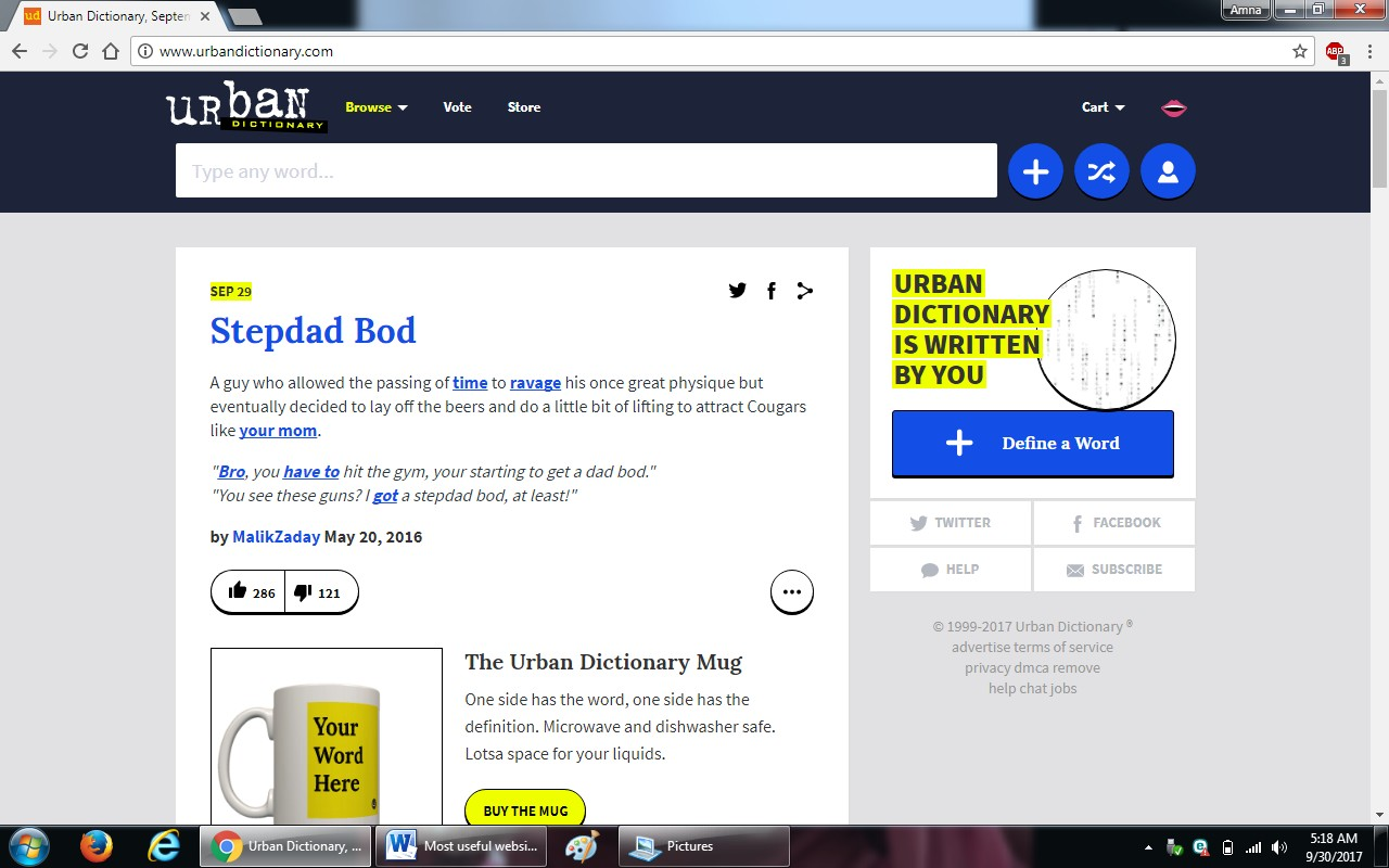 79 urban dictionary.com  - 100+ most useful websites list we are not yet familiar with