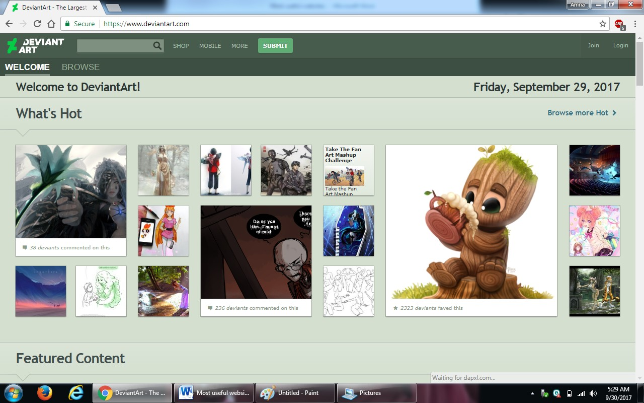 81. deviantart.com - 100+ most useful websites list we are not yet familiar with