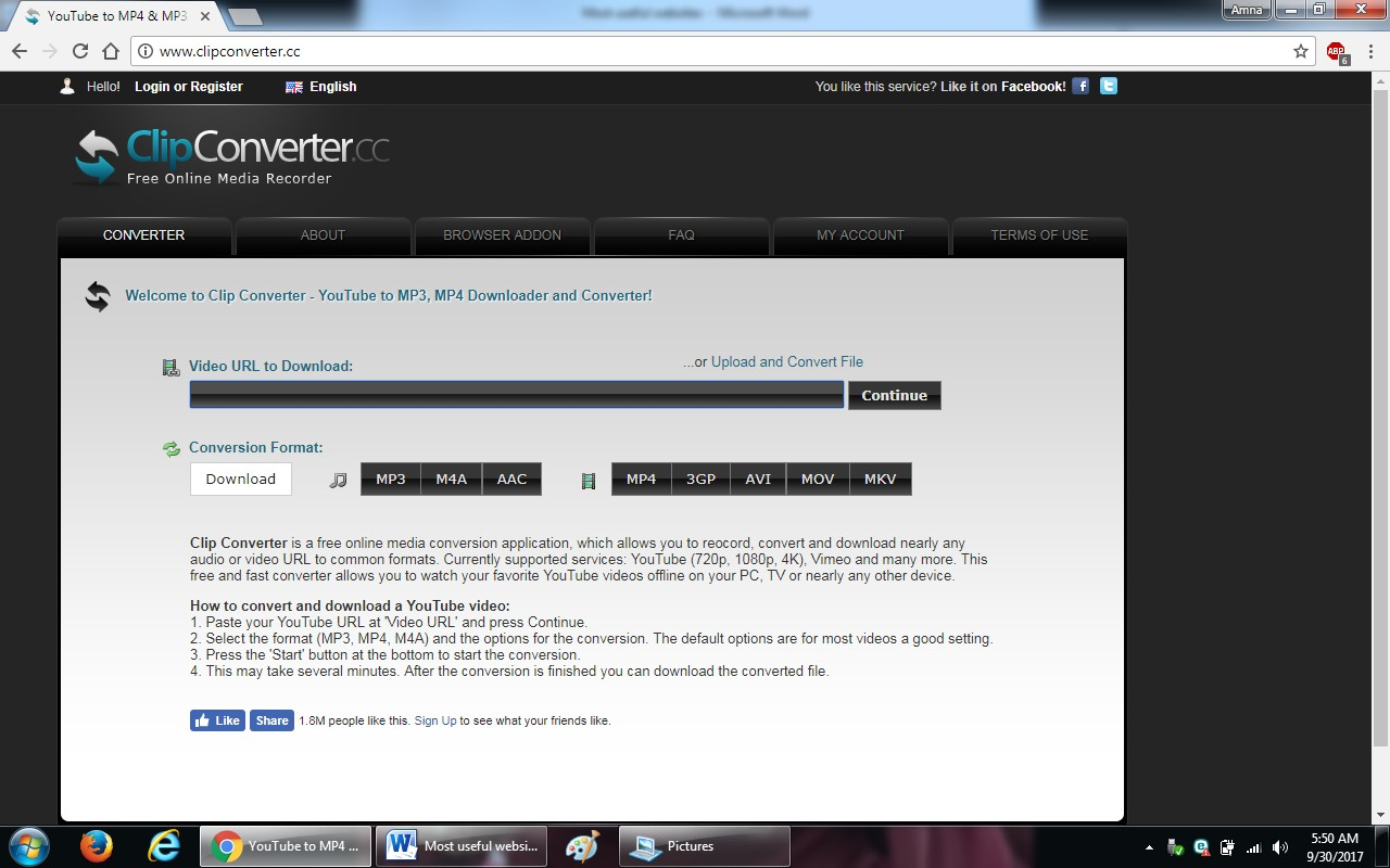 92. clipconverter.cc - 100+ most useful websites list we are not yet familiar with