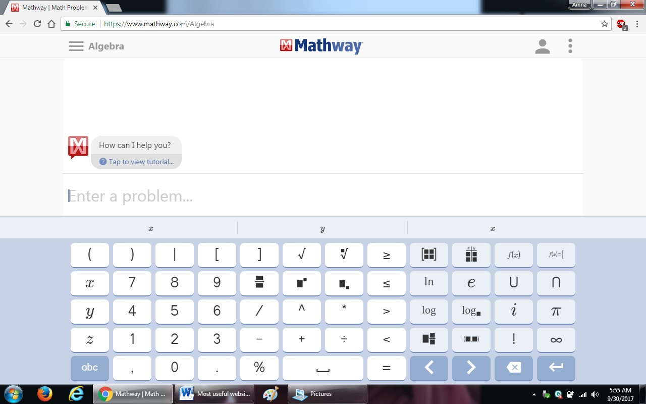 95. mathway.com  - 100+ most useful websites list we are not yet familiar with