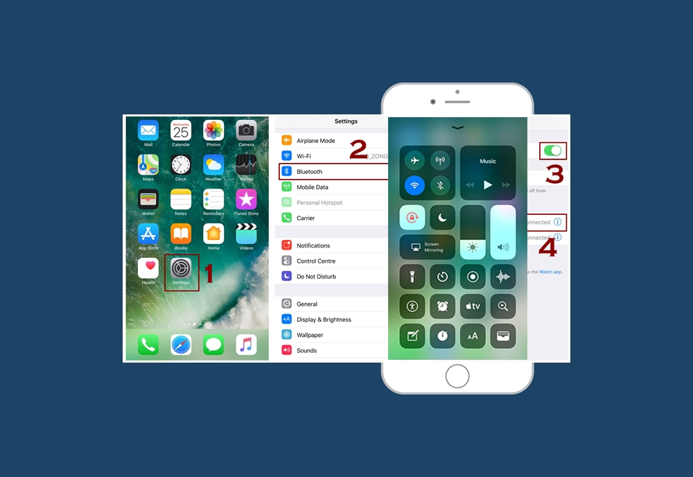 How to turn on and connect to Bluetooth devices in iPhone - Homepage
