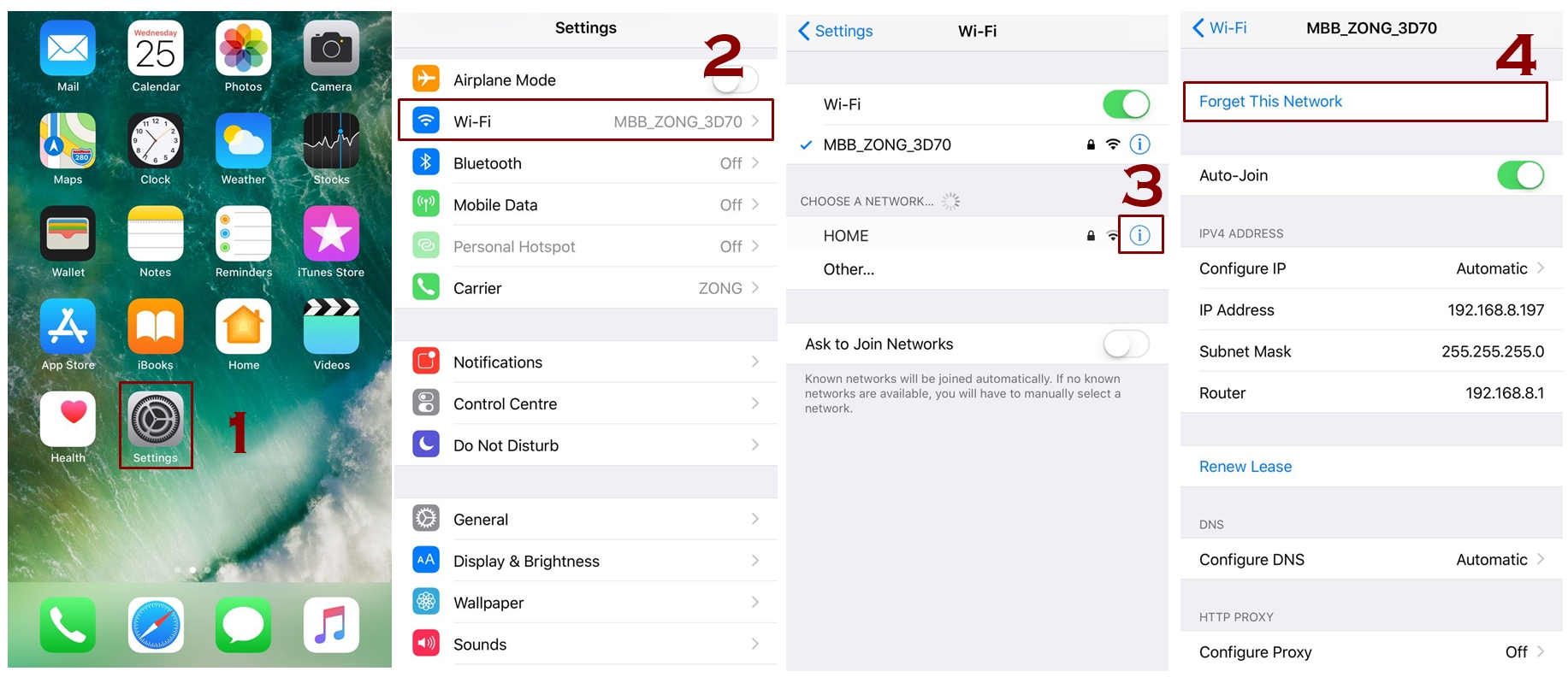 forget WiFi network in iPhone - iPhone Connected to WiFi But no Internet - How to Fix that