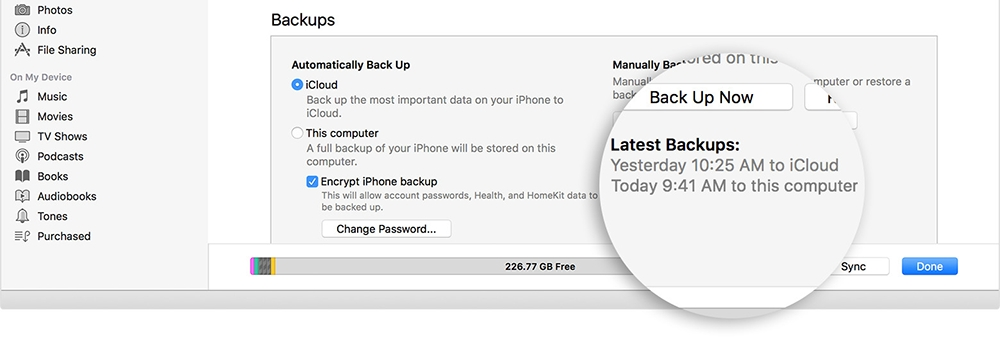 latest backups in itunes - How to restore and back up your iPhone with iTunes