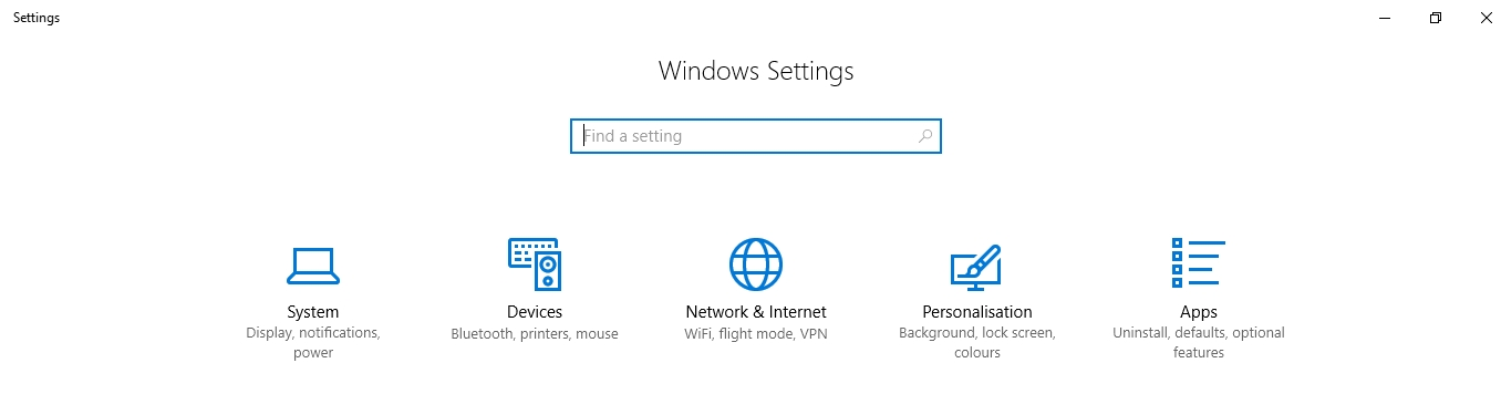 system icon settings - How to Delete Temporary Files in Windows 10