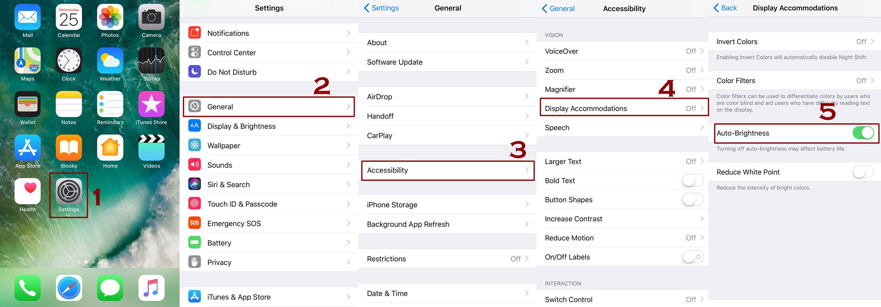 How to turn on off auto brightness ios - How to Adjust the Screen Brightness on iPhone