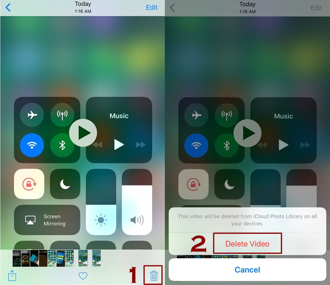 how to delete videos from iPhone - Everything About Screen Recording Feature in IOS 11