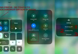 how to enable airdrop on iphone from control center ios 11 320x220 - How to use Airdrop on iPhone - IOS 11