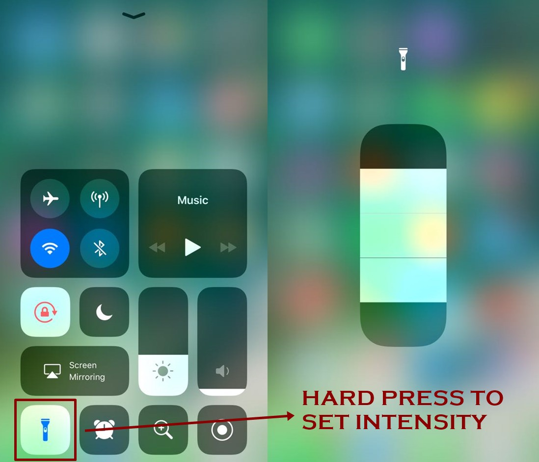 how to enable flash light on iphone ios 11 techbytex - How to use Flashlight on iPhone - IOS 11