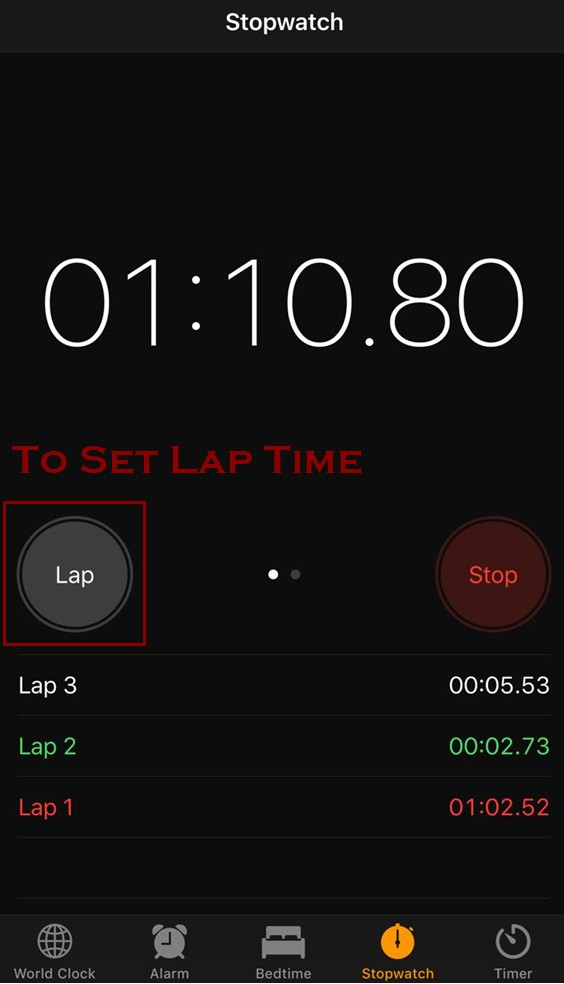 how to set up lap time iphone - How to use Stopwatch on iPhone