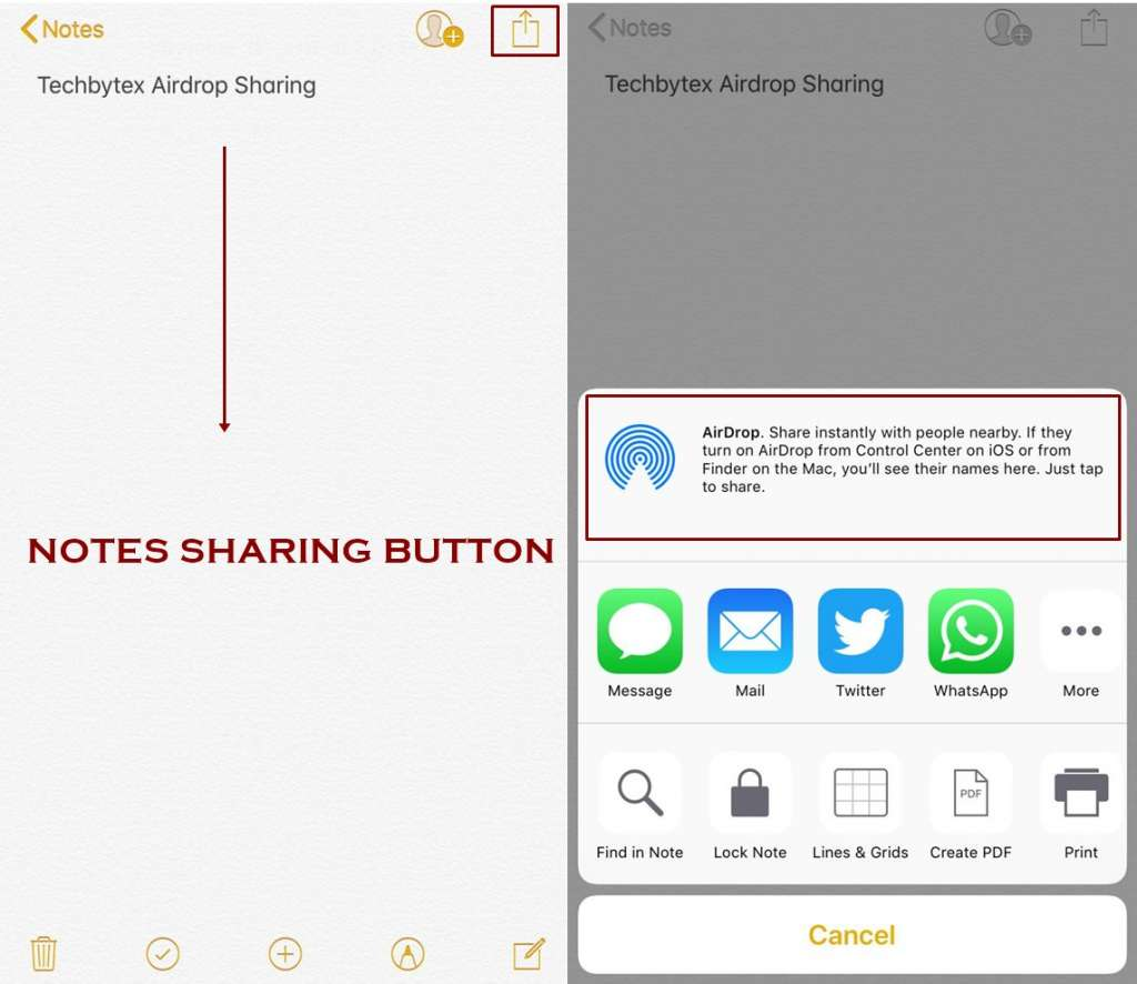 how to share files using airplay 1024x886 - How to use Airdrop on iPhone - IOS 11