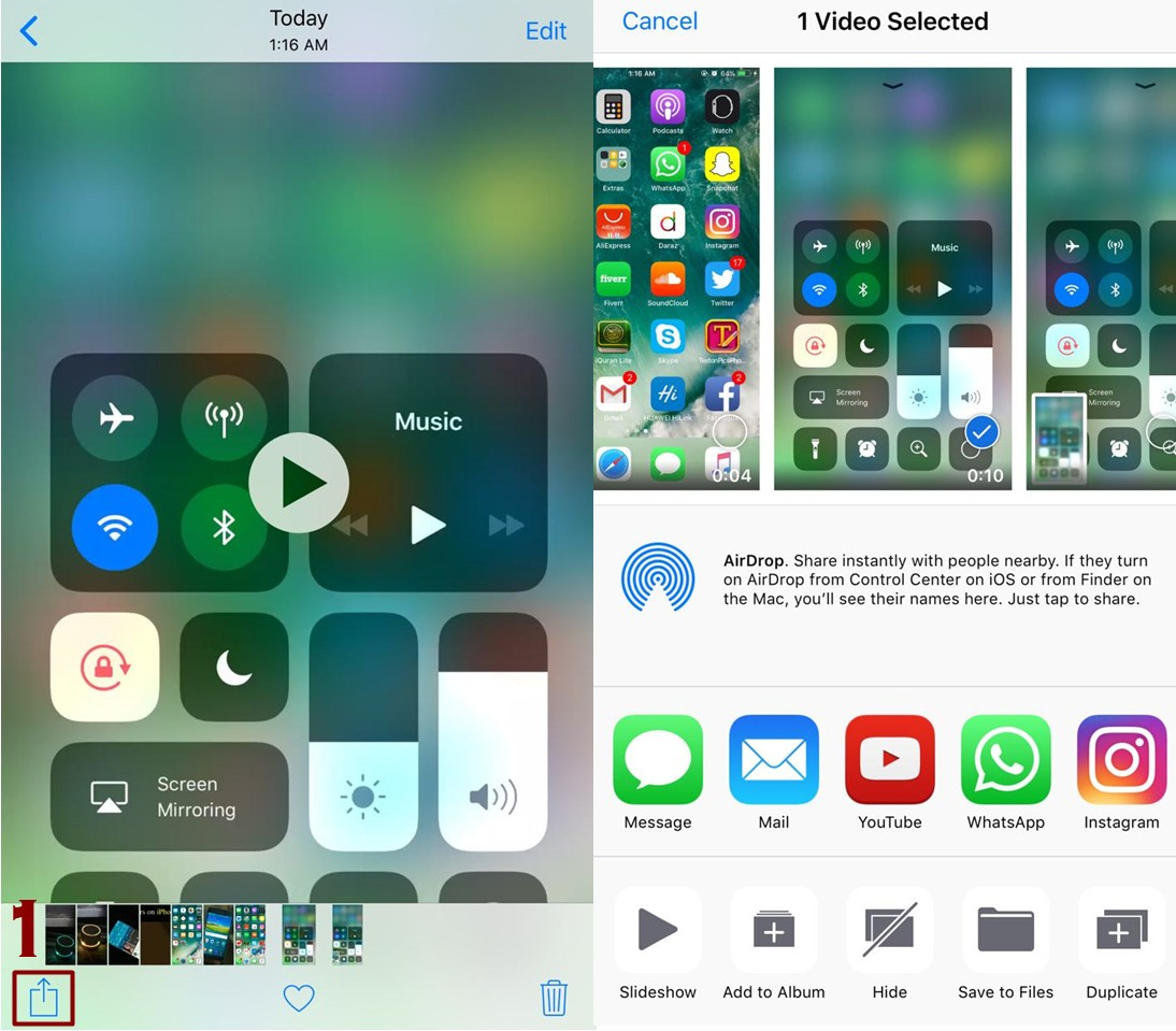 how to share videos from iPhone - Everything About Screen Recording Feature in IOS 11