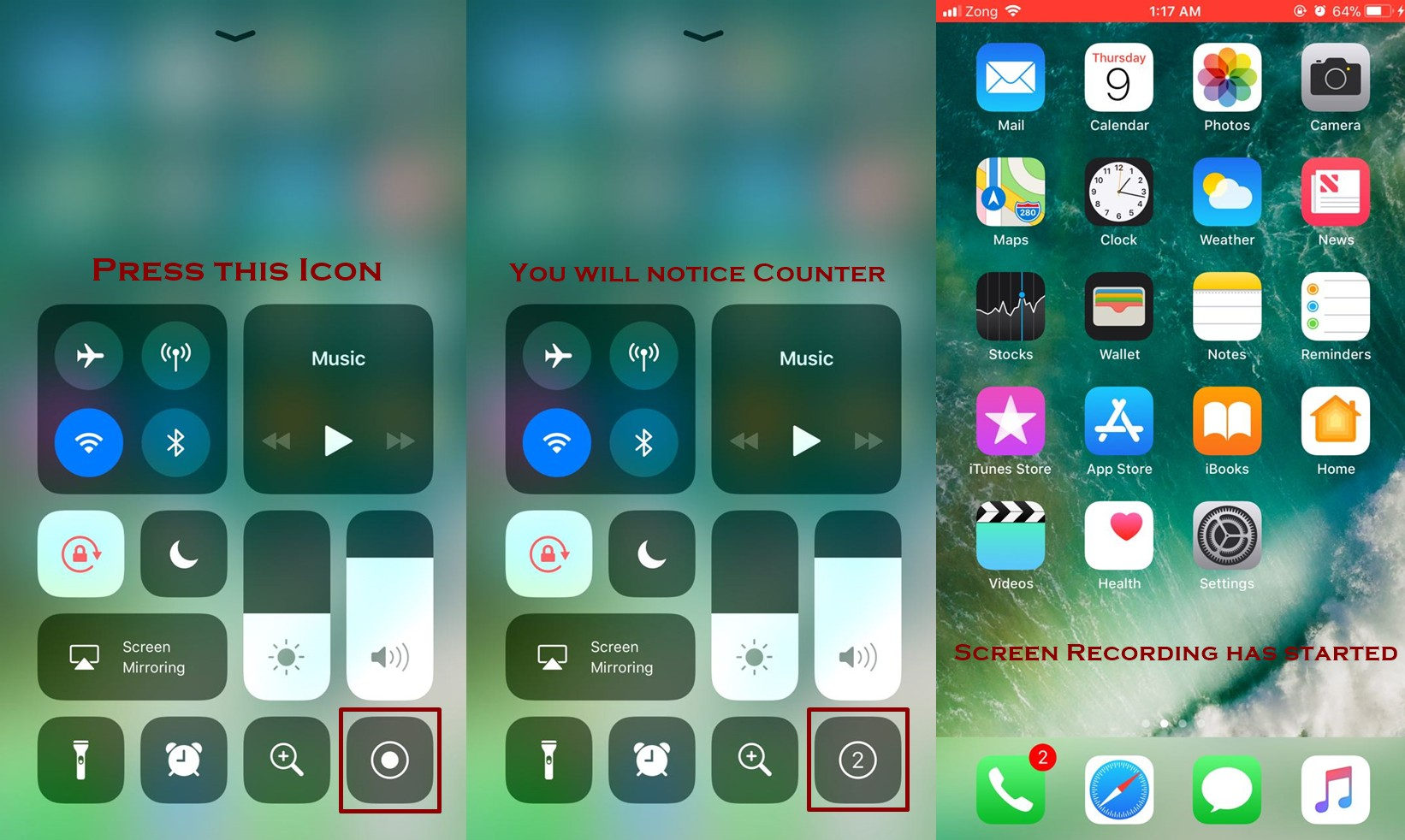 how to start screen recording on iphone - Everything About Screen Recording Feature in IOS 11