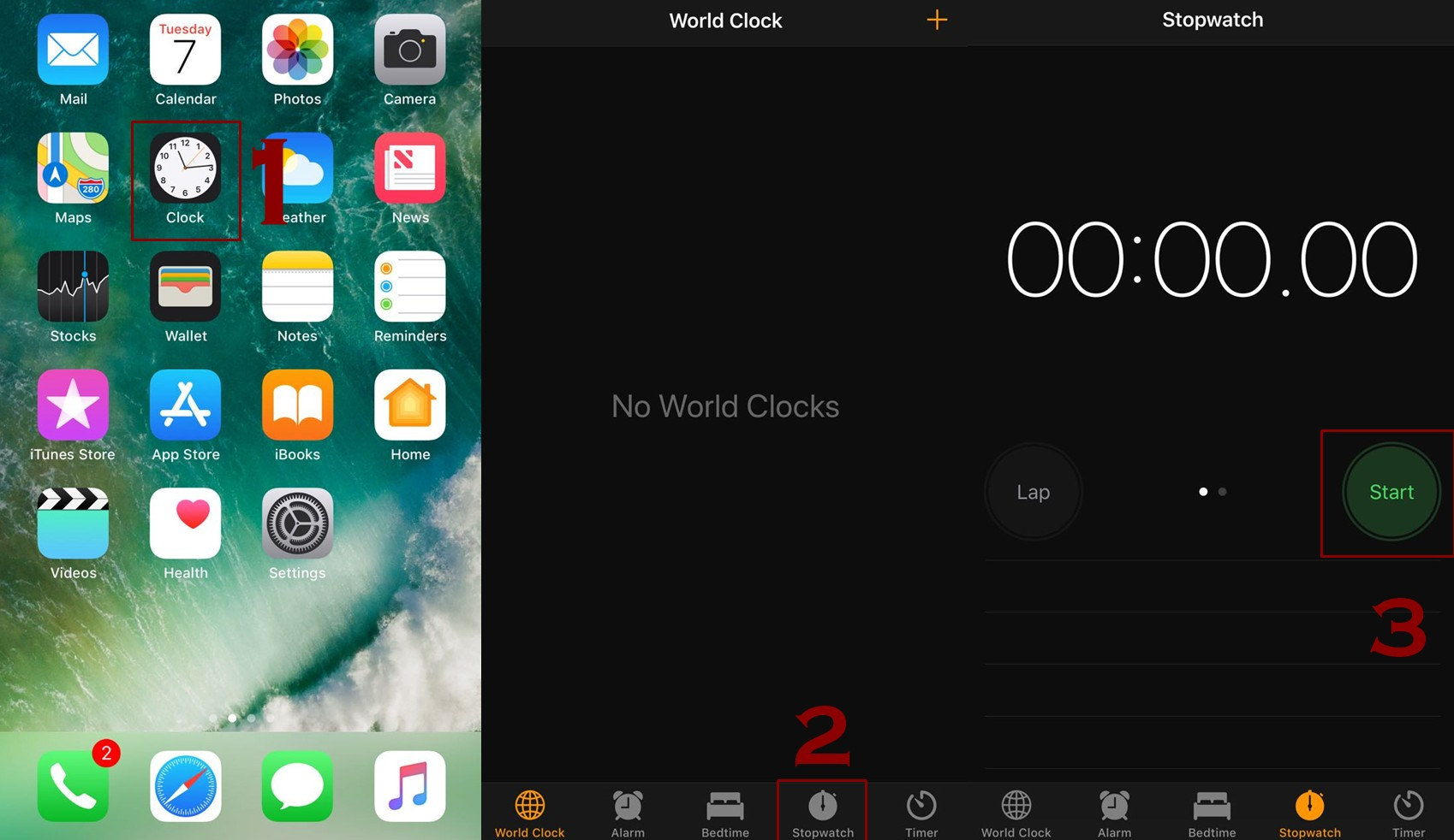 how to start stopwatch on iphone - How to use Stopwatch on iPhone