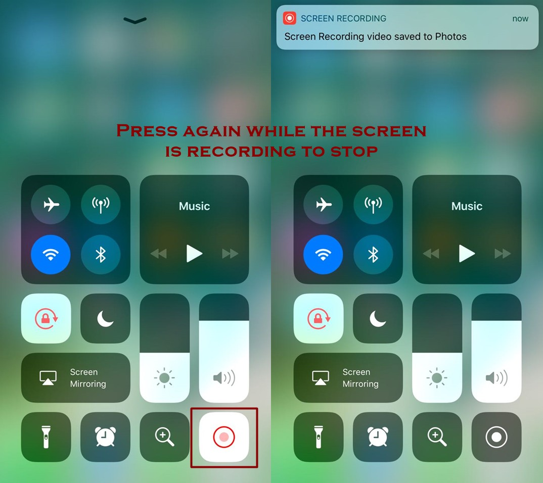 how to stop screen recording on iphone - Everything About Screen Recording Feature in IOS 11