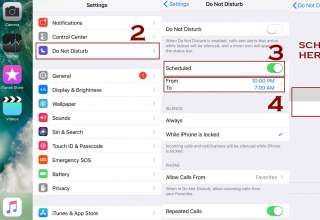 schedule do not disturb mode 320x220 - How to use Do not disturb Mode on iPhone - IOS Guide