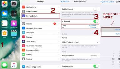 schedule do not disturb mode 384x220 - How to use Do not disturb Mode on iPhone - IOS Guide