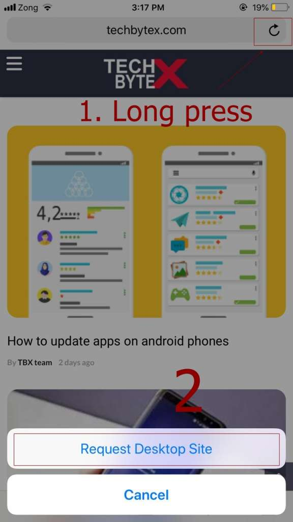how to view desktop version of websites on iphone ipad 576x1024 - How to view desktop version of websites in your iPhone or iPad