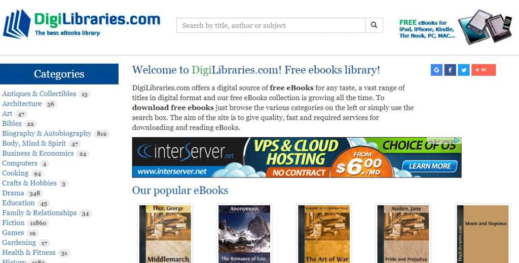 11 DigiLibraries 1024x520 - Best sites to download PDF Books for free