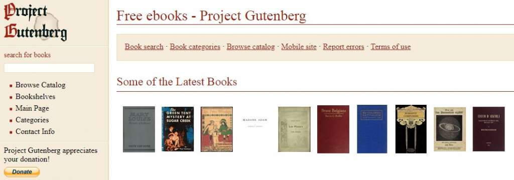 17 Project Gutenberg 1024x359 - Best sites to download PDF Books for free