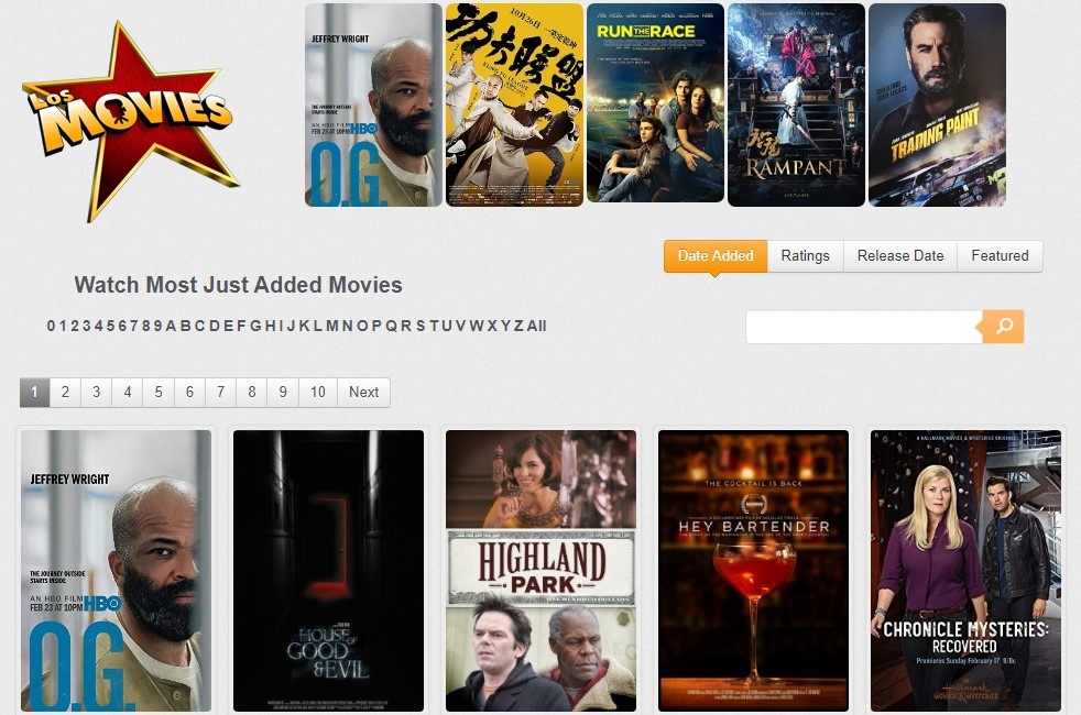 18 losmovies - Best websites for watching movies online for free