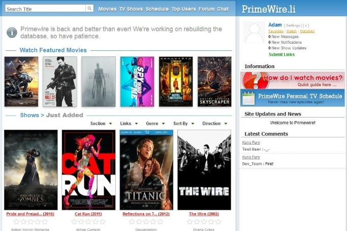20 primewire - Best websites for watching movies online for free