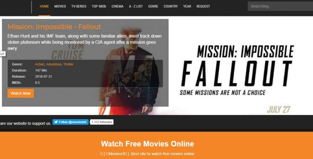 22 cmovieshd 1024x519 - Best websites for watching movies online for free