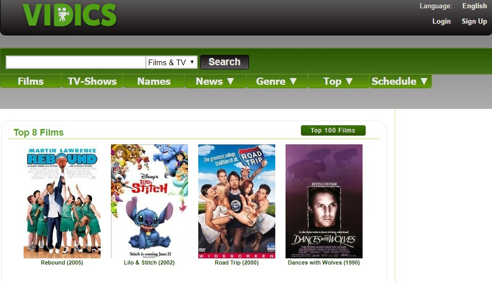 5 vidics - Best websites for watching movies online for free