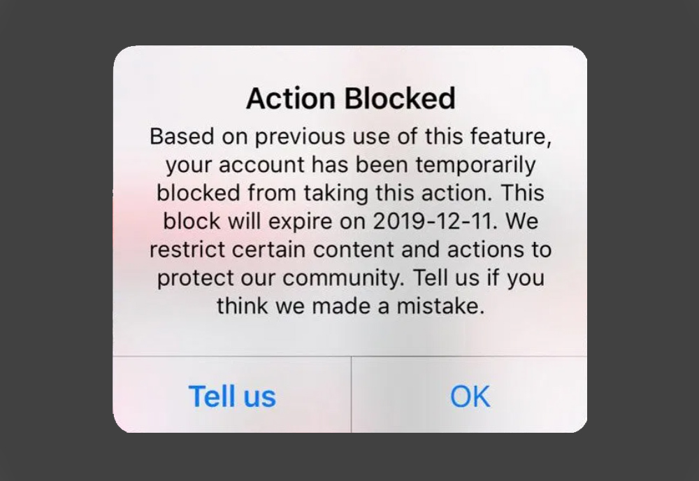 how to fix try again later on Instagram